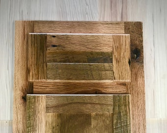 Beau Reclaimed Barnwood Flat Panel Cabinet Doors / Drawer Faces