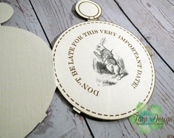 5 x Pocket Watch Style Save the Date