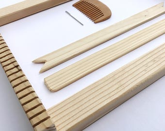 Weaving Kit / Weave Loom / Frame Loom Kit / Pine / The Bluestem / Tapestry Loom / Portable / Lap Loom / Learn to Weave / Weaving Supplies