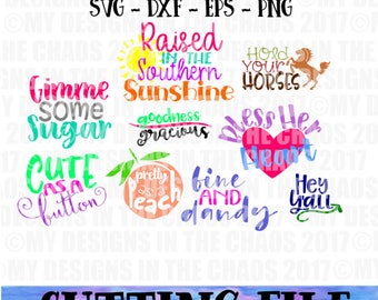 SVG File / Southern Saying Cutting File Bundle / Southern Saying SVG / Southern Cut File for Silhouette / svg cut file/ southern sayings