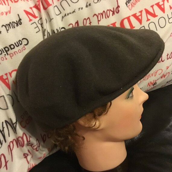 6e04abde02a A retro 1980s Kangol Newsboy wool cap. Pure wool and made in