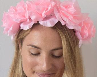 0a7555acecd SALE item  Isabella Light Pink Floral Fascinator