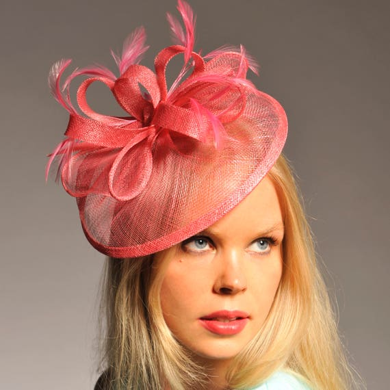 e493affe096 Elsa Candy Pink Fascinator Kentucky Derby Hat Pink Spring