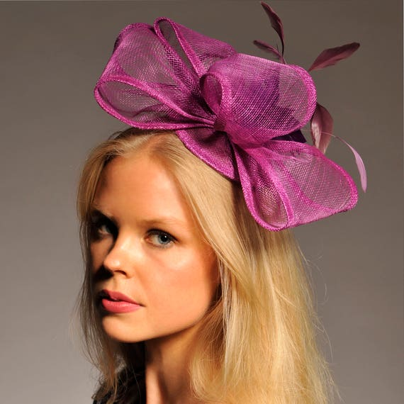 bc0a281eff6 Eliza Purple Fascinator Kentucky Derby Headband Purple