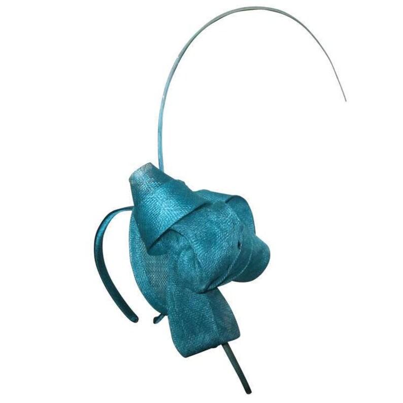 1cb0b7292e6ee Cara Aqua  Teal Fascinator Hat Spring Racing Headband