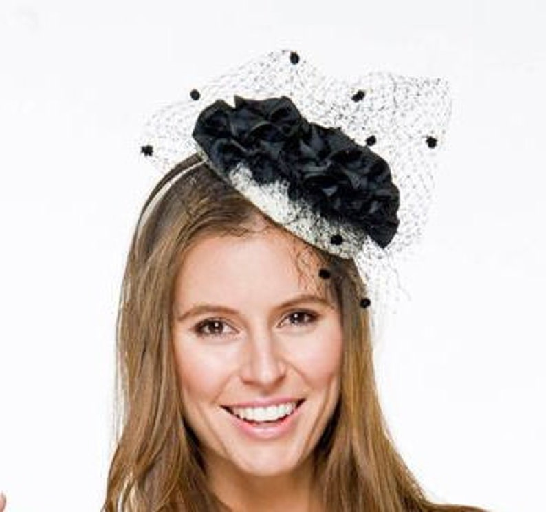 f3462629af5 Layla Black   Cream Fascinator Kentucky Derby Hat Royal
