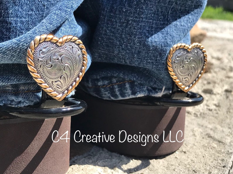 0a5d1ea825 Super cute western wear cowgirl heart conchos etched silver