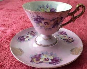 Royal Aynsley Cup and Saucer  Pedestal  Vintage    #286