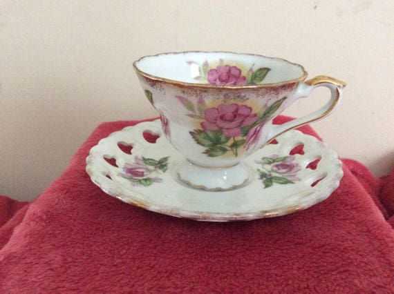 Vintage Unmarked Lusterware  Cup And Saucer
