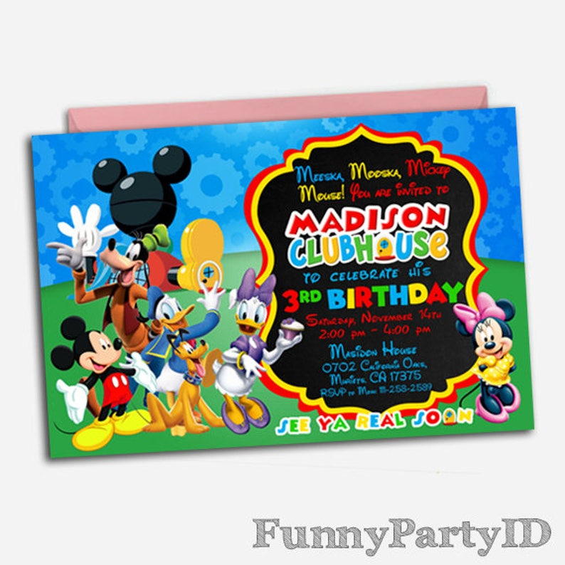 Mickey Mouse Clubhouse Invitation  Mickey Mouse Clubhouse  10388a00140