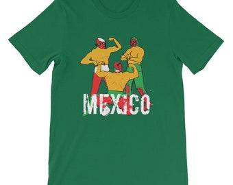 Camiseta Mexico Copa Mundial 2018 Rusia Short-Sleeve Unisex   Etsy 31d6143c65