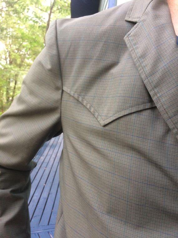 Vintage 1970's men's Western Suit ( jacket 44 pan… - image 8