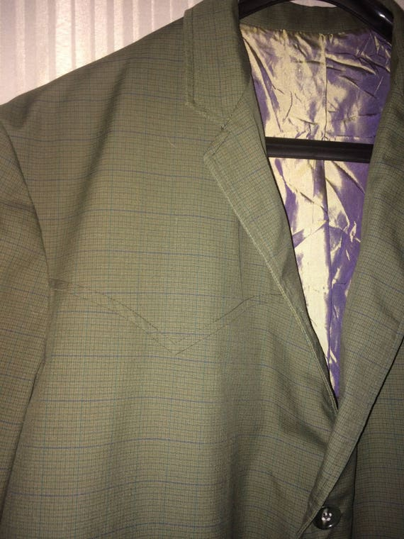 Vintage 1970's men's Western Suit ( jacket 44 pan… - image 10