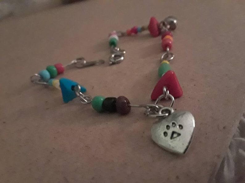 1340685fb Bracelets Just Paws..Rainbow bridge collection charm beaded | Etsy