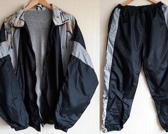92d7b6b650f8 Track suit men medium Windbreaker suit 90s Nylon suit Vintage windbreaker  suit women large Windbreaker suit 90s Tracksuit mens medium