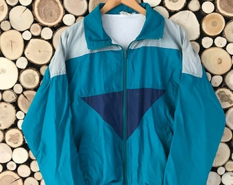 85c7424ed1 Windbreaker jacket women large Vintage jacket 90s windbreaker women large  Womens windbreaker 90s Clothing women Sports Jacket men medium