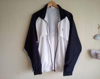 Vintage 90's Adidas windbreaker white Adidas vintage jacket Vintage windbreaker Adidas vintage Old school jacket Mens windbreaker jacket