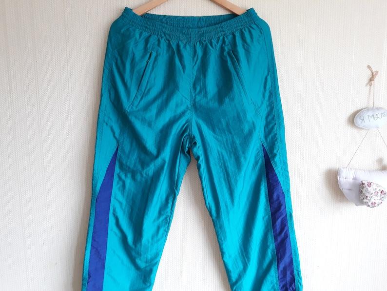 Vintage windbreaker pants women 80s Track pants women small Nylon pants small 90s sportswear Hip Hop Style 90s Windbreaker pants small