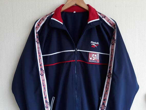 super specials dirt cheap great prices Windbreaker Reebok Vintage reebok windbreaker men Windbreaker jacket USA  sport 90s Track jacket men Reebok jacket men 90s windbreaker men