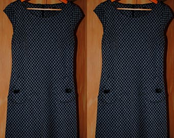 1960's Houndstooth Shift Dress • Groovy • Retro Dress • Vintage Dress • GoGo Dress • 70s • Mini Dress • Shift Dress