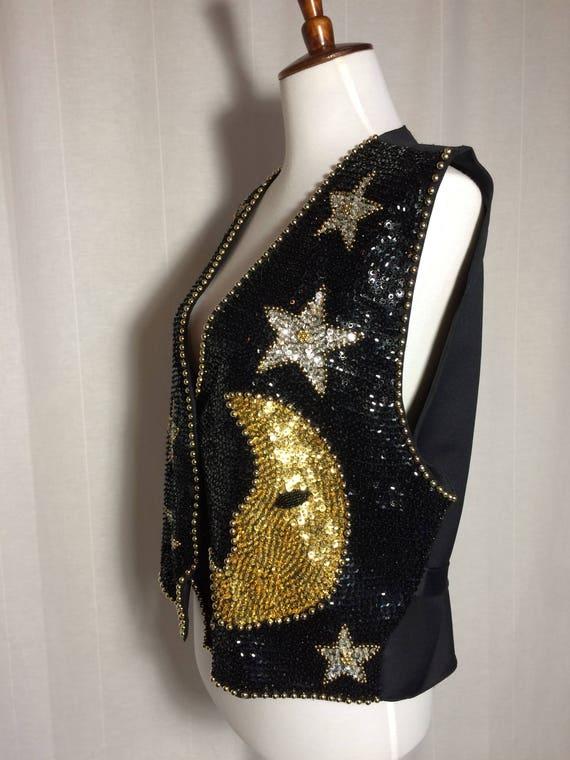 Vintage 1980s Indonesian Sequin Vest • Gypsy • Gyp