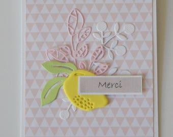"Lemon ""Thank you"" card"