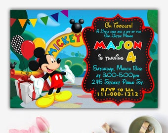 Mickey Mouse Clubhouse Invitation, Mickey Mouse Clubhouse Birthday, Mickey  Mouse Clubhouse Party, Mickey Mouse Invitation, Mickey Mouse Card