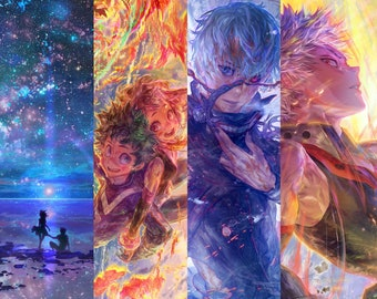 """6""""x4"""" Mini Art Prints, Assorted Anime And Original Illustrations, Gift Idea For Anime Fans"""