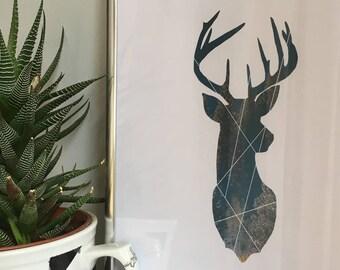 Deer double exposure, INSTANT DOWNLOAD