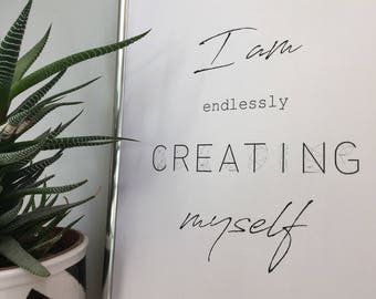 Endlessly creating, INSTANT DOWNLOAD