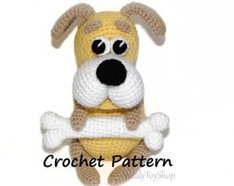 Dog Bone Chew Toy Crochet PDF Amigurumi Pattern  Easy Beginner Friendly Pattern  Doll Plushie Amigurumi Toy Pattern  US Letter Size