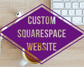 Custom Squarespace Website Design - Includes 1 Year Subscription