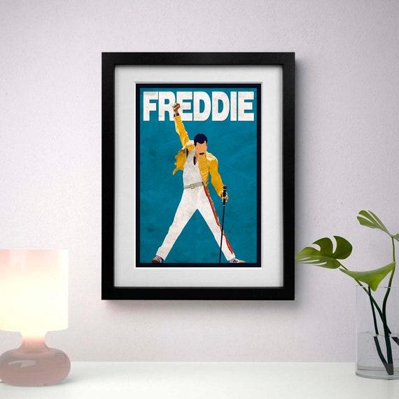 FREDDIE MERCURY A3 SIZE POSTER PRINT WEMBLEY STADIUM 1986 FREDDY MERCURY