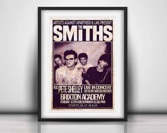 The Smiths 1986 The Final Concert - Prints or Posters available in both UK & USA Sizes