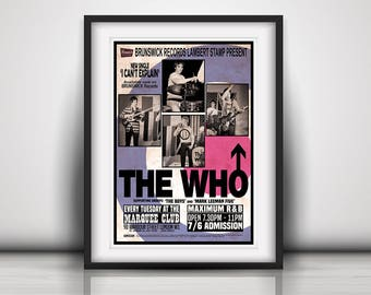 The Who 1965 'At The Marquee Club' Concert - Prints available in Three Sizes