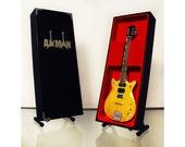 Malcolm Young (Ac Dc) Gretsch Battle Scarred 1963 Jet Firebird - Miniature Guitar Replica (UK Seller)