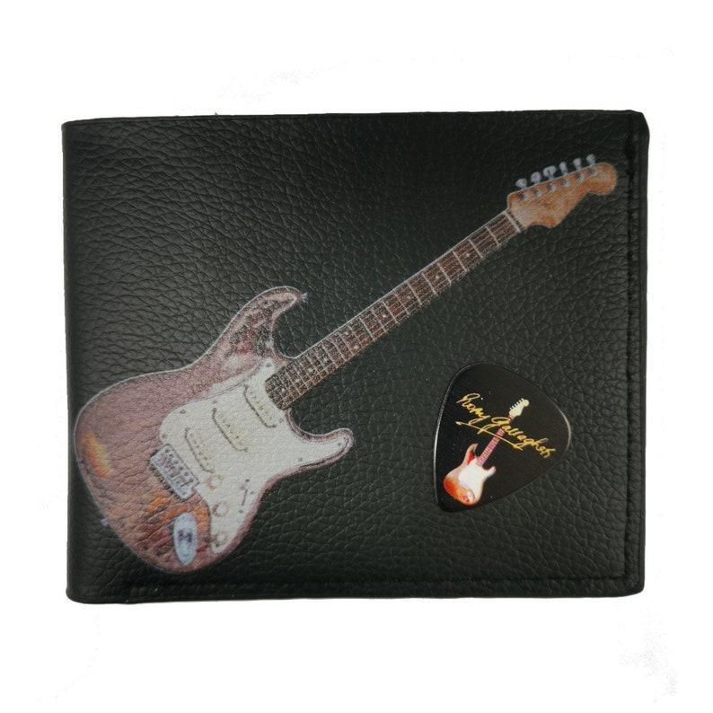 Rory Gallagher Wallet  Gift Box Vegan Leather Original Artwork Plectrum Holder