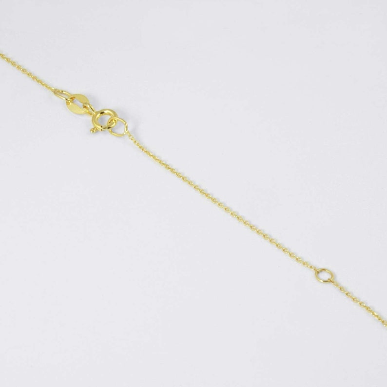 Yellow Gold Cable Delicate Chain 14 karat Classic Dainty Jewelry Chain Thin Cable Chain Ideal Chain for Pendant and Tiny Cross