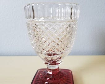 Vintage diamond point goblet