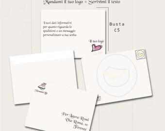 BUSTA PERSONALIZZATA con LOGO | Formato C5 | packaging | logo | personalizzabile | per spedizioni | freelance | handmade |  fatto a mano |