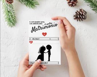 FAI dA TE Partecipazioni di nozze | matrimonio | Originale | Romantico |  Compila i tuoi inviti di nozze |  Inviti personalizzabili