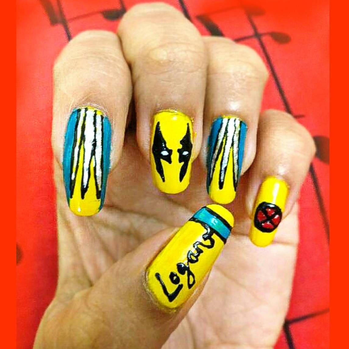 Wolverine nail art, NAIL GLUE FREE, Handpainted nail art, false ...