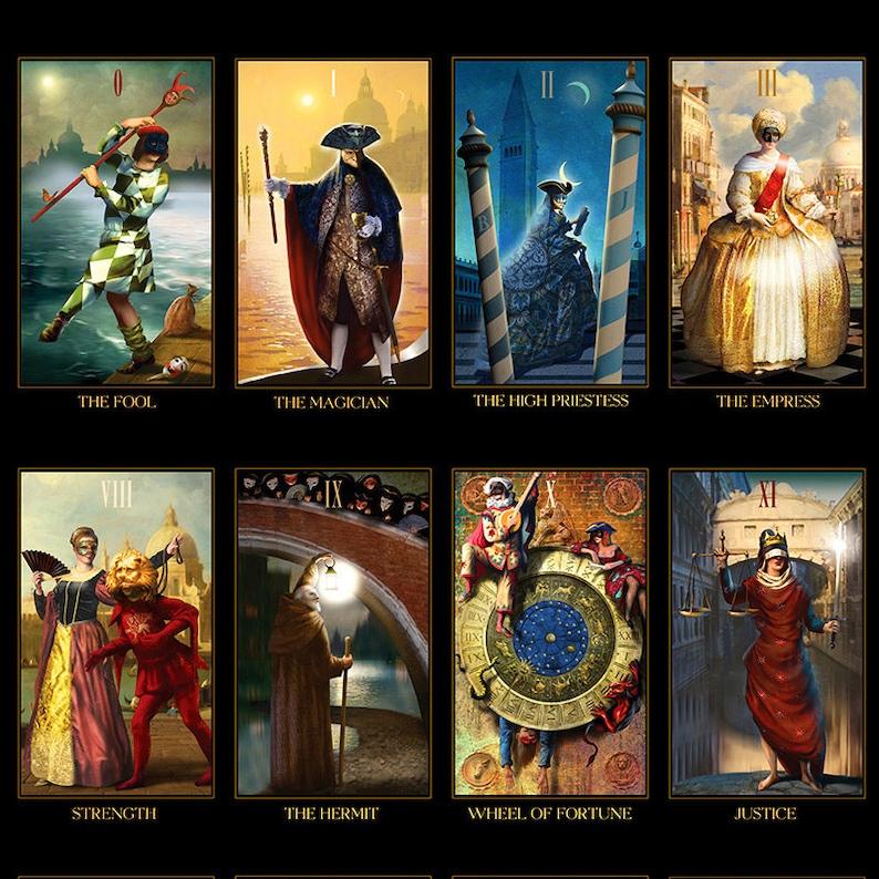 Venetian Tarot Deck Divination Tarot Cards Unique | Etsy