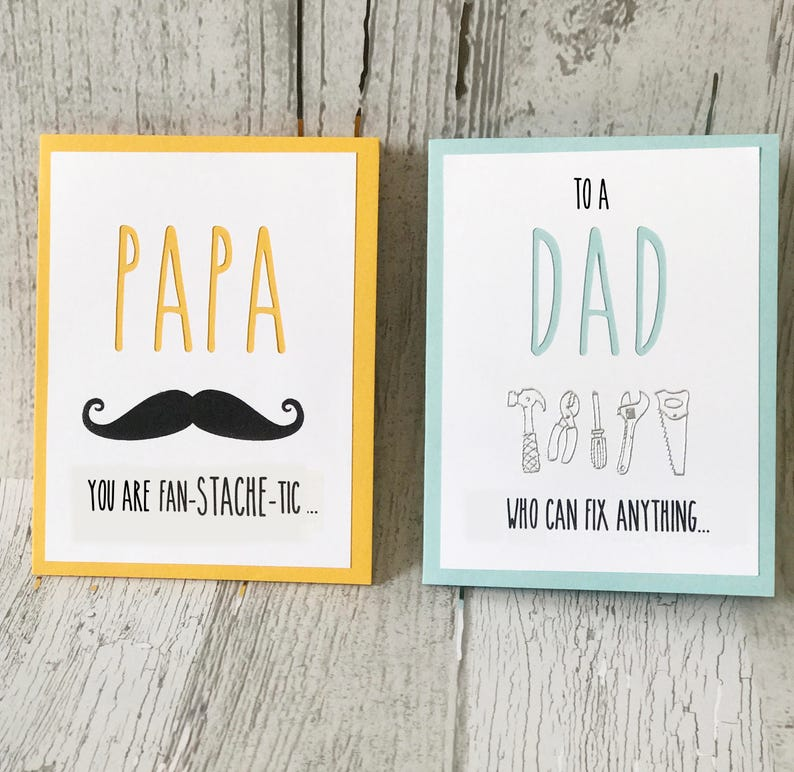 DAD Card for Father's Day  DAD Card for Birthday  Rae image 0