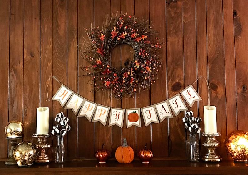 Fall Burlap Banner  Thanksgiving Banner image 0