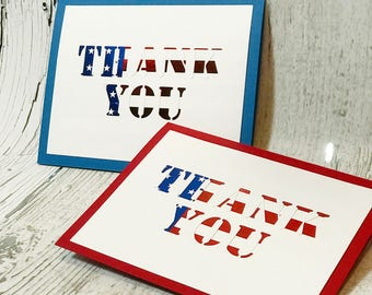 Thank You For Your Service Card | Veteran's Day Card  |  American Flag Card  | Memorial Day Card