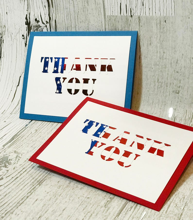 Thank You For Your Service Card  Veteran's Day Card   image 0