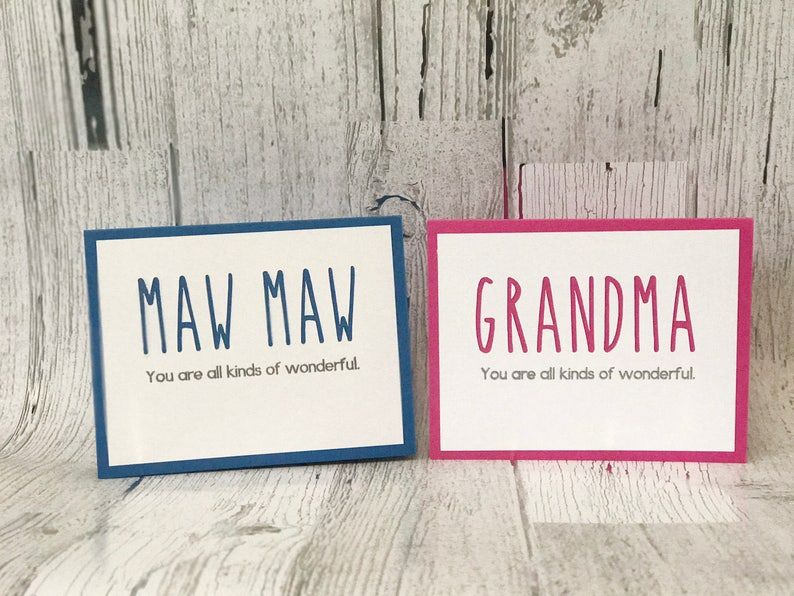 MAW MAW Card for Mother's Day or Birthday  GRANDMA Card image 0