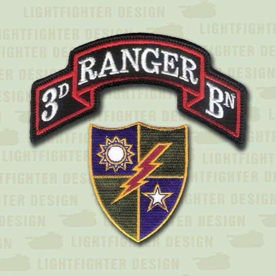 3rd Bn 75th Infantry AIRBORNE RANGER Regt scroll patch 2-A c//e