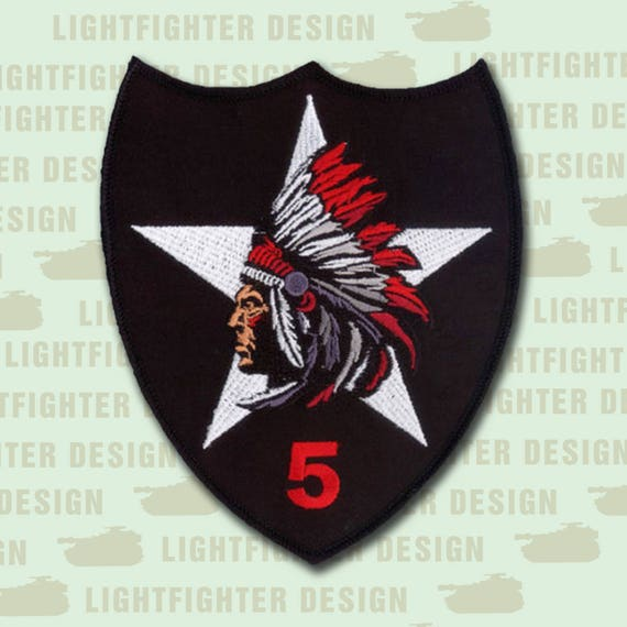 4Th Airborne Infantry Division Military Morale Insignia bordada Patch Hook Loop